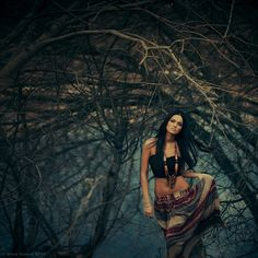 Pocahontas didn't last long in the wilderness for all she had was a tube top and a string of beads.