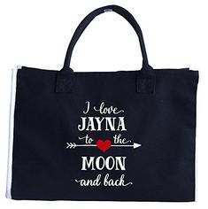 Artbiu I Love Shabria To The Moon And Back.gift For Boyfriend - Tote Bag Gifts For Husband, Gifts For Her, Wooden Handle Bag, Jamel, Kairo, Love Jeans, Womens Fashion For Work, Boyfriend Gifts, Leather Bag