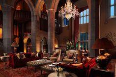 Adare Hotel, Limerick,   Ireland.     Impressive lobby at this spectacular hotel.