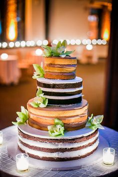Cake by Tribeca Rooftop; Photo by Joshua Zuckerman.   	See this real wedding here.