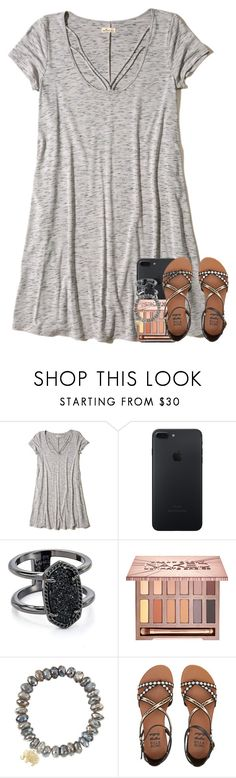 """""""you know those rumors get to flyin' in a town this size"""" by preppymilitarybrat ❤ liked on Polyvore featuring Hollister Co., Kendra Scott, Urban Decay, Sydney Evan and Billabong"""