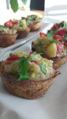 Patates Çanağında Patlıcan Salatası   İzmirdenlezzetler