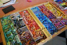 Box of pastels
