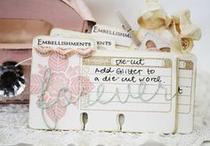 Embellishment Card by Melissa Phillips for Papertrey Ink (June 2012)