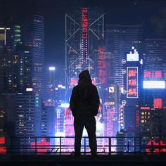 I was commissioned by 2 music producers, Akkad, to create a cyberpunk night cityscape similar to an older work of mine, Concrete Jungle. Cyberpunk City, Arte Cyberpunk, Cyberpunk Aesthetic, Futuristic City, Neon Aesthetic, Parkour, Cover Design, Neon Noir, Usa Tumblr
