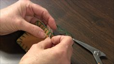 This tutorial is on how-to end the blanket stitch. The tutorial shows how to end the blanket stitch if you have two layers of fabric and if you have one laye...