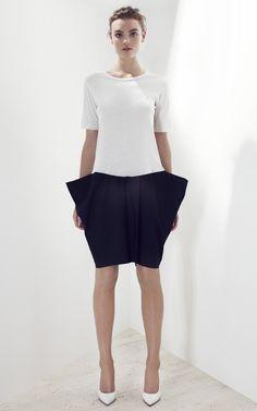 Shop Bassike Jersey & Poplin Dress - Ready-to-Wear Trunkshow at Moda Operandi | Moda Operandi