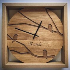 Modern Wall Clock / Custom Wedding Or Anniversary Clock /