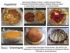 Silvia's Tortenträume: Kuppeltorte Donauwelle Kuppel Kuchen Anleitung Tutorial