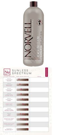 Sunless Tanning Products: Norvell Dark Premium Sunless Solution - Liter BUY IT NOW ONLY: $40.0
