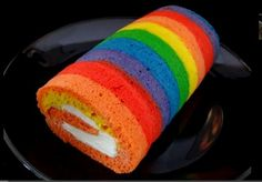 Radical Rainbow Cake Roll - foodista.com