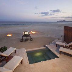 Private Beach Cinema experience at Las Ventanas al Paraíso, A Rosewood Resort.