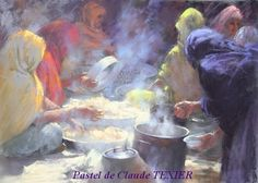 Enjoy a special gallery of Claude Texier's subtle and moody pastel paintings. Soft Pastel Art, Pastel Drawing, Soft Pastels, Pastel Shades, Portraits Pastel, Pastel Crayons, Pastel Pencils, Paintings I Love, Pastel Paintings