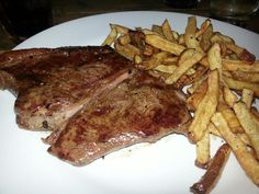 Chalk valley steak and skin on fries. Southampton.