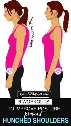 Fitness 6 Easy Exercises to Prevent Hunched Shoulders - Exercises for Good Posture - These 6 workouts will not only help you to have better posture but also prevent hunched shoulders. Fitness Workouts, Easy Workouts, At Home Workouts, Fitness Motivation, Cardio Gym, Better Posture Exercises, Scoliosis Exercises, Neck Exercises, Stretches