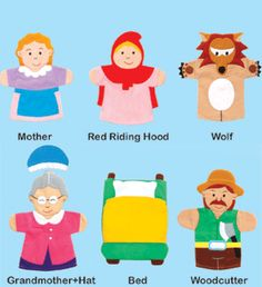 Little Red Riding Hood Story Telling Hand Puppets