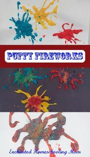 Puffy Fireworks art project