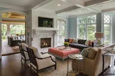 Family Room from a Stonewood LLC custom home