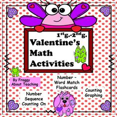 Valentine Math Activities by Froggy About Teaching Self Esteem Activities, Fun Math Activities, Valentines Day Activities, Math Games, School Fun, School Stuff, School Lessons, Teaching Math, Math Centers
