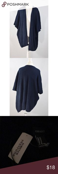 "NWT Navy Blue Oversized Sweater Cardigan New with tags! So cozy and comfy. 35"" L 22"" pit to pit Forever 21 Sweaters Cardigans"