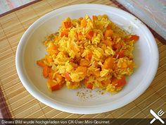 Cassildes Kürbis - Reis, ein schmackhaftes Rezept aus der Kategorie Gemüse. Bewertungen: 15. Durchschnitt: Ø 3,8.