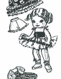 public domain curly topped doll pattern