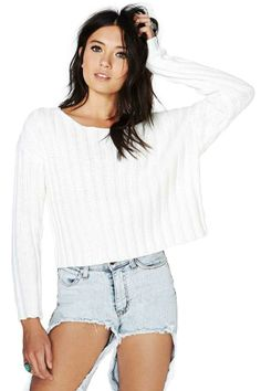 Nasty Gal Wonderland Crop Sweater