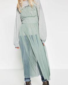 GATHERED TULLE DRESS-DRESSES-WOMAN   ZARA United States