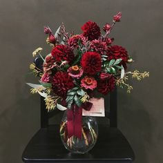 Red Dahlias, Zinnias and Rosellas, Zinnias, Dahlias, Floral Wedding, Wedding Flowers, Order Flowers Online, Sympathy Flowers, Vase Arrangements, Floral Foam, Flower Delivery