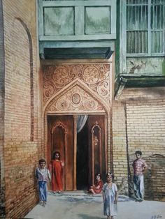 The entrance of an old house in Iraq