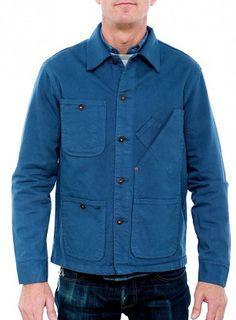 Tellason 13oz Coverall Jacket Blue