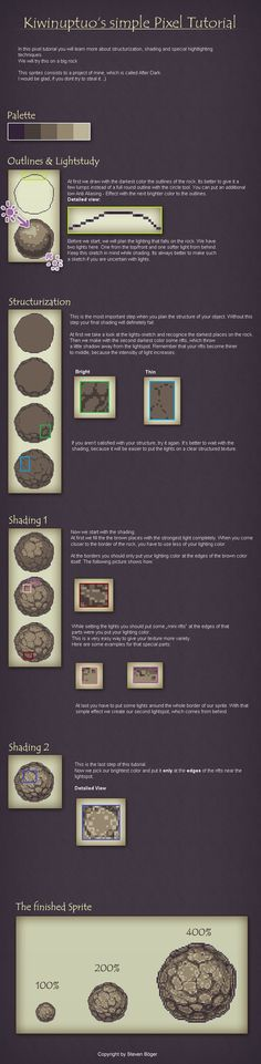 Pixel Art Tutorial - Shading by Kiwinuptuo.deviantart.com on @deviantART: