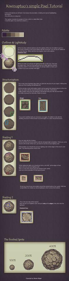 Pixel Art Tutorial - Shading by Kiwinuptuo.deviantart.com on @deviantART: