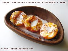 The Rising Spoon: Creamy Pan-Fried Peaches with Cinnamon & Honey {Dairy-Free}