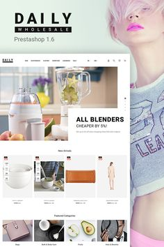 Try Daily WholeSale Theme to create a successful online store with a wide assortment of wares. The PrestaShop team has gathered a lot of useful and smart features inside this theme to help you succeed in selling online. Hit the Live Demo.