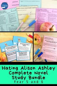 Bring a comprehensive look at Hating Alison Ashley by Robin Klein into your classroom with this in-depth bundle. With comprehension, vocabulary, character, settings and whole novel activities, this is the most extensive and up-to date teaching resource for Hating Alison Ashley available. A must have for Year 5 and Year 6 classrooms undertaking a novel study of this classic Australian novel, this resource will help you extend understanding and promote deeper engagement in the text… Teaching Activities, Teaching Strategies, Teaching Ideas, Year 6 Classroom, Language Study, Language Arts, Maths Investigations, Teacher Resources, Classroom Resources