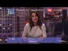 Koningin Rania van Jordanië, goed voorbeeld van iemand die met Youtube haar boodschap op een effectieve manier verspreid.