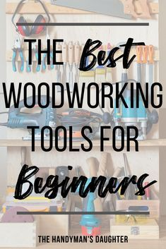 These are the BEST woodworking tools for beginners! I've rounded up the three most useful power tools a beginning woodworker needs to get started, plus three additional tools to make the job easier! woodworking The Best Woodworking Tools for Beginners Woodworking Tools For Beginners, Essential Woodworking Tools, Learn Woodworking, Easy Woodworking Projects, Wood Working For Beginners, Popular Woodworking, Diy Wood Projects, Woodworking Plans, Woodworking Furniture