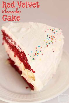 Red Velvet (Cheesecake) Cake.  This sounds so good I'm going to have to try it soon!