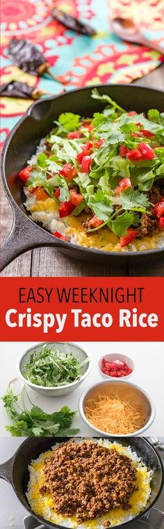 Taco Rice is an Okinawan dish mashing up Japanese and Texmex cuisine. With taco meat and an assortment of toppings on a bed of crispy rice, it's a quick and satisfying meal.