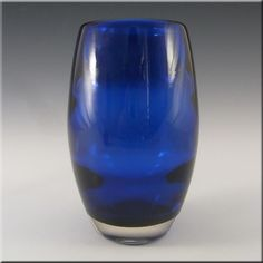 Whitefriars/Baxter Royal Blue Glass Ovoid Vase #9587 - £30.00