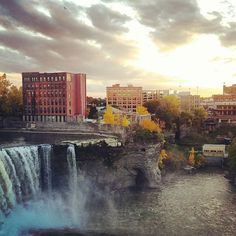 Sunset at High Falls #ROC shared by Holly. #ThisIsROC #RochesterNY
