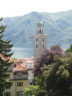 San Lorenzo Cathedral, Lugano, Switzerland.  This is the first thing I saw when I stepped off the train.  Gorgeous town!