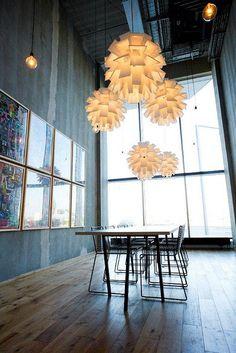 Norm 69 lamps in XXL size by Normann Copenhagen, via Flickr