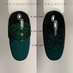 Black, sparkly in color plain in color 1 Diy Nails, Cute Nails, Pretty Nails, Gradiant Nails, Black Gel Nails, Gel Nail Art Designs, Best Acrylic Nails, Cool Nail Art, Nails Inspiration