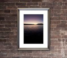 BIG BEAR LAKE California - Dramatic Photograph - Lake Sunset Evening Silhouette Picture