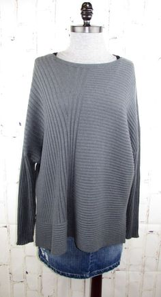 c44f1d0ea53 Eileen Fisher womens 100% Cashmere Italian Ribbed Sweater XL (fits 1x 2x) 55