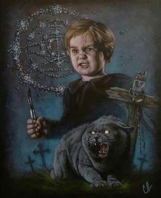 Pet Sematary by Caroline Beaudoin Mary Lambert, King Painting, Pet Cemetery, Stephen King, Horror House, Film Books, Horror Movies, Creepy, 1