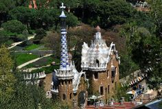 Park Guell Gaudi theme park in Barcelona, Spain.  Travel photography by Diane Greene Lent