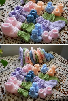 Seamless Preemie Booties - Free Pattern : Seamless Preemie Booties - Free Pattern : Knitting , lace processing is the s. Knitting For Charity, Knitting Blogs, Easy Knitting, Baby Knitting Patterns, Knitting Projects, Crochet Projects, Crochet Patterns, Knitting Hats, Preemie Crochet